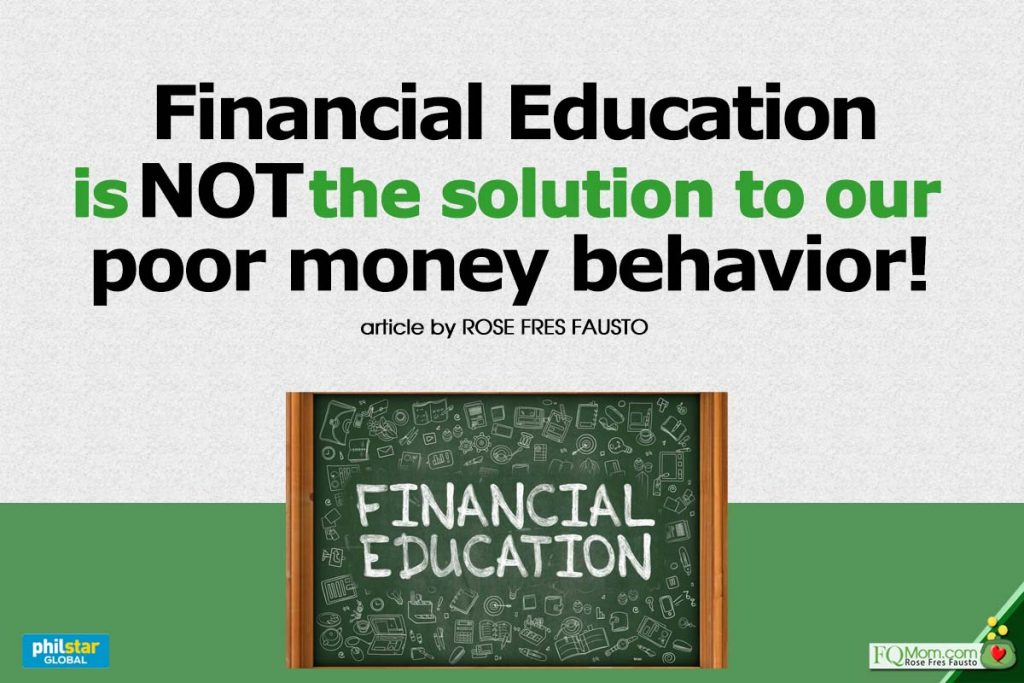 Financial Education is NOT the solution to our poor money behavior!