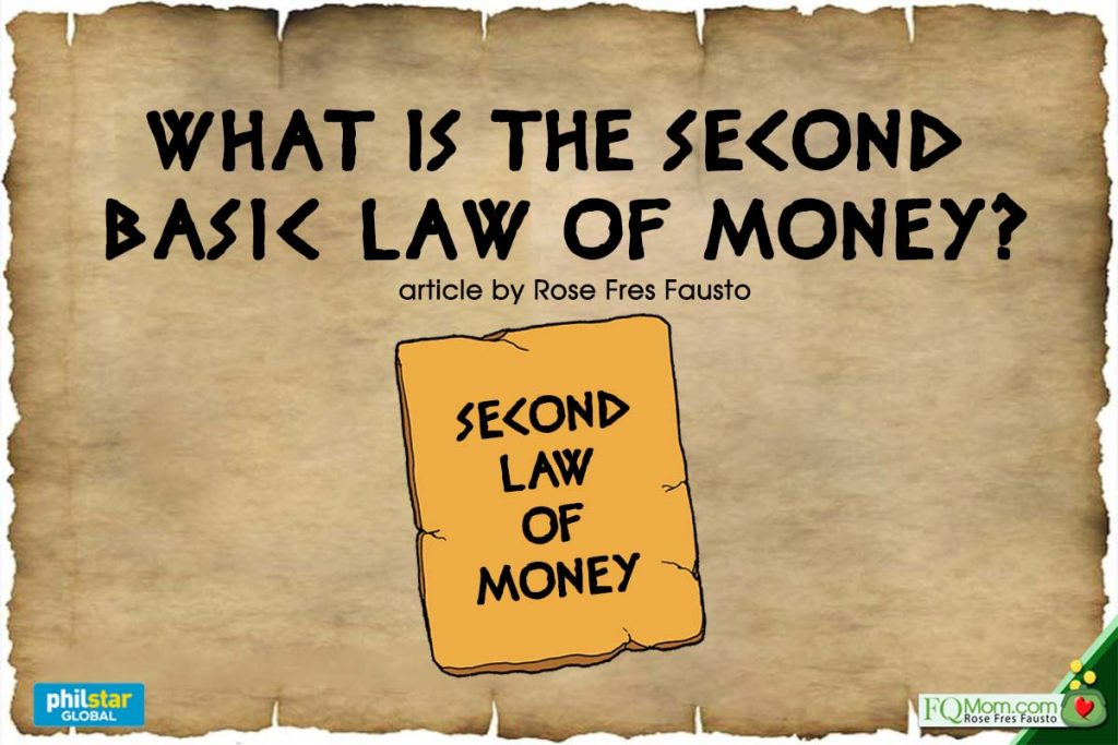 What is the Second Basic Law of Money?