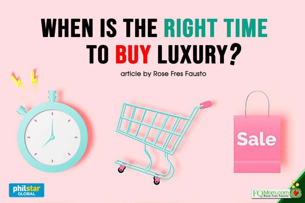 When is the right time to buy luxury?