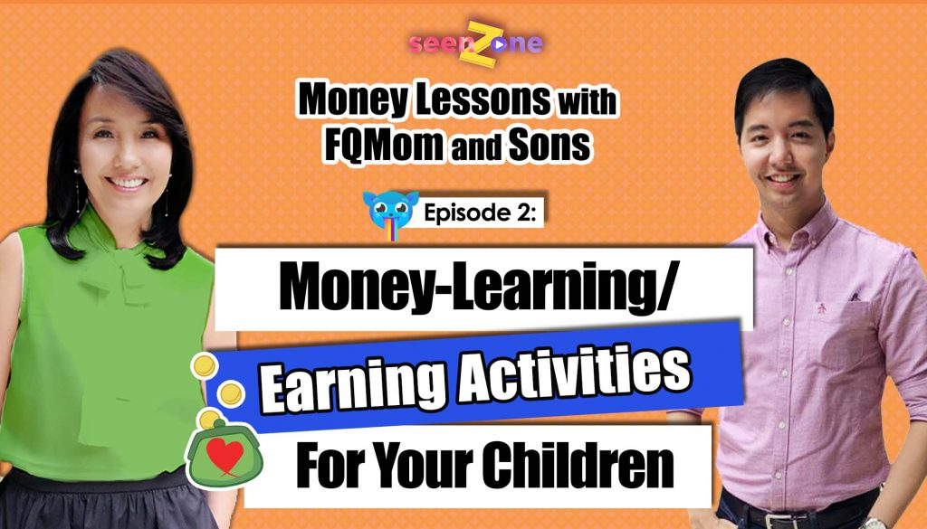 Ep. 2: Money-Learning/Earning activity for your children | MONEY LESSONS WITH FQ MOM AND SONS