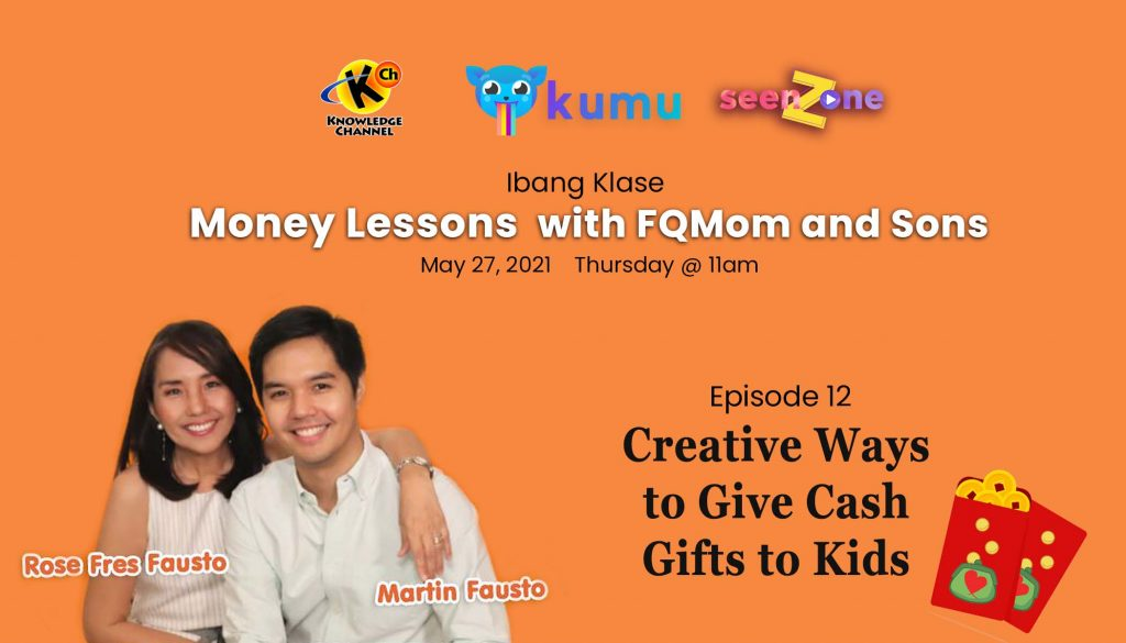 KUMU Episode 12: Creative Ways to Give Cash Gifts to Kids | MONEY LESSONS WITH FQ MOM AND SONS