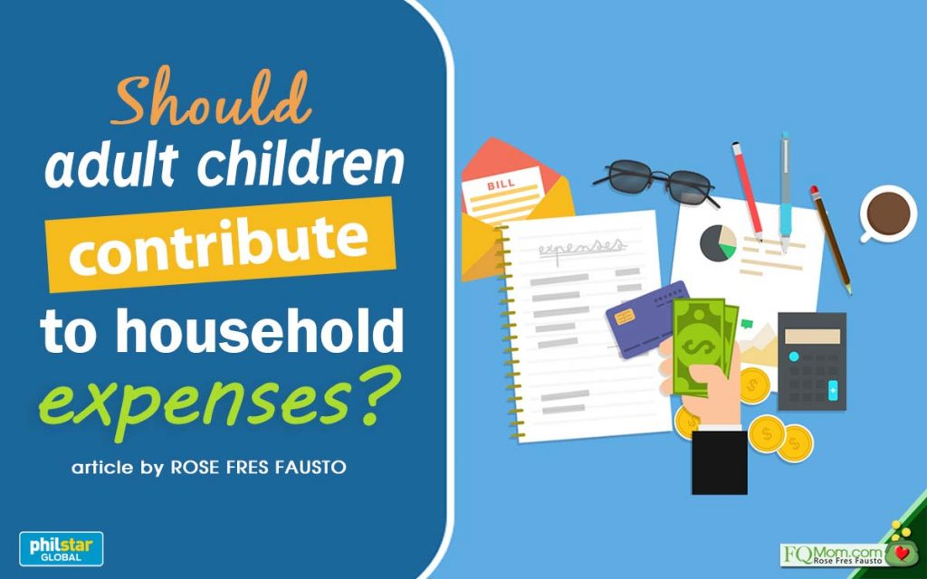 Should adult children contribute to household expenses?