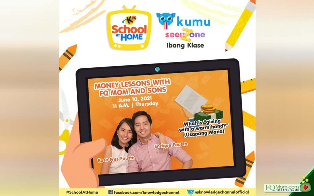 KUMU Episode 14: What is giving with a warm hand? (Usapang Mana)| MONEY LESSONS WITH FQ MOM AND SONS