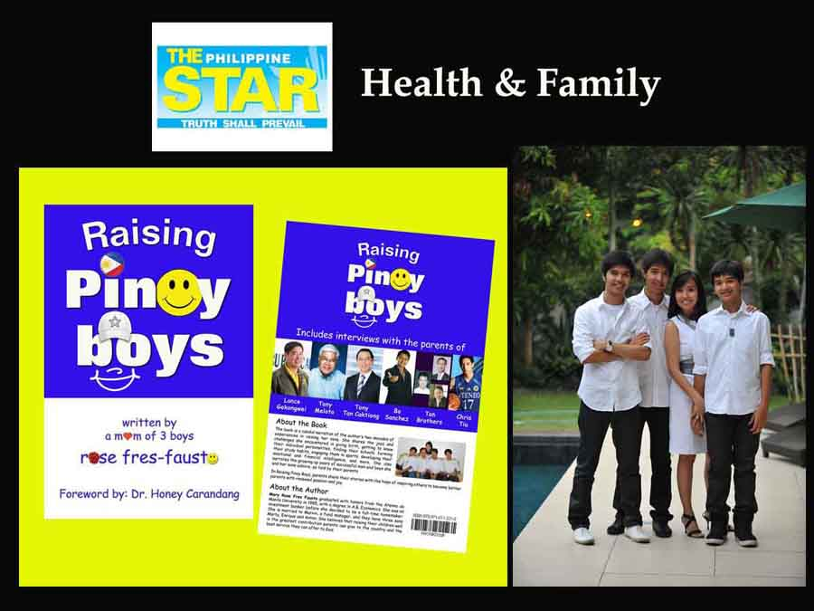 Oh Boy! What's it like to raise Pinoy boys? by Ching M. Alano (Philippine Star)