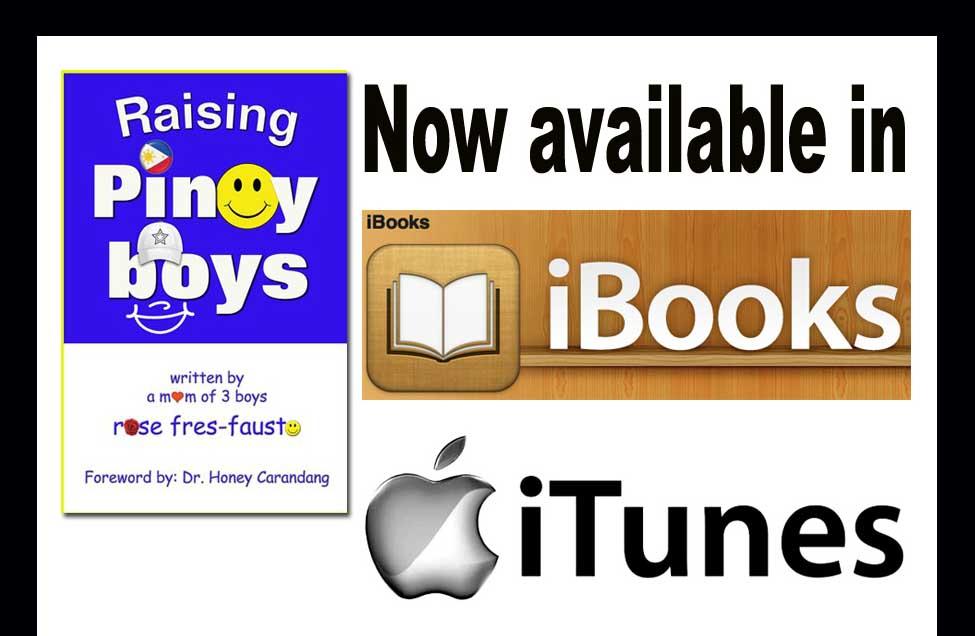 Raising Pinoy Boys now in iTunes iBookstore!
