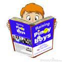 A Teenaged Boy Enjoys a Parenting Book