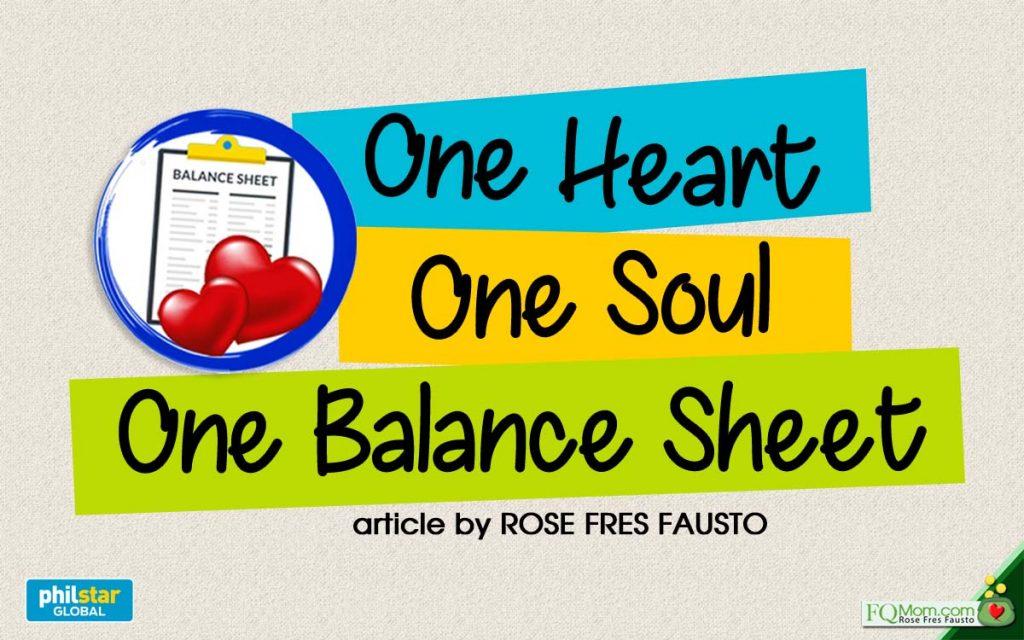 One Heart One Soul One Balance Sheet