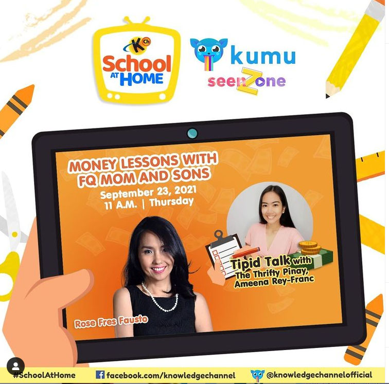 Ep.29: Tipid Talk with The Thrifty Pinay, Ameena Rey-Franc| Money  Lessons with FQMom and Sons